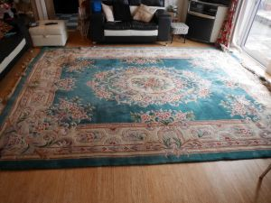 Full picture of giant chinese style aubusson wool rug